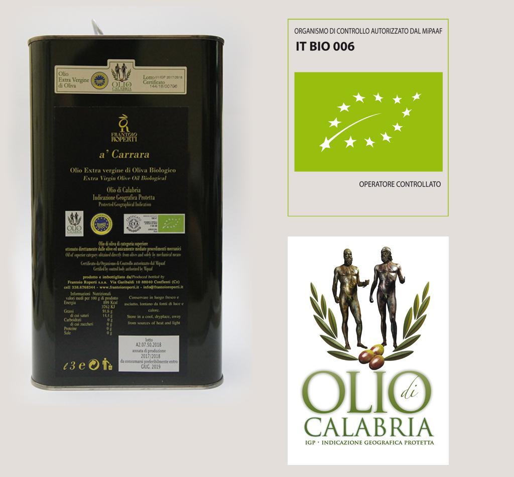 Igp Olio di Calabria Biologico